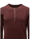 John Varvatos Nashville waffle henley red sweater-shirt shop online mens knitwear