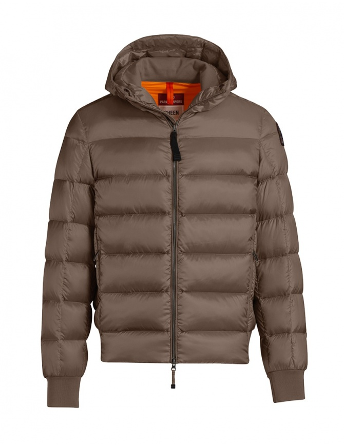 Parajumpers Pharrelle down jacket brown PMJCKSX13 PHARRELL BARK 576 mens jackets online shopping