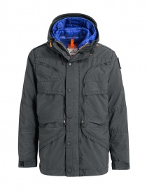 Parajumpers Alpha iron grey and blue jacket PMJCKTP01 NINE IRON 765 order online