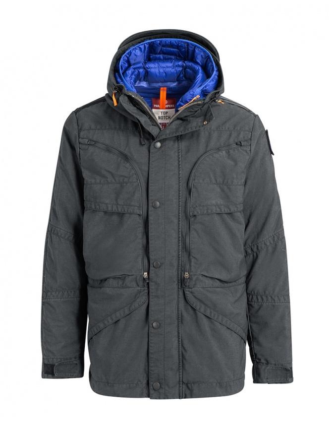Parajumpers giaccone Alpha grigio ferro e blu PMJCKTP01 NINE IRON 765 giubbini uomo online shopping