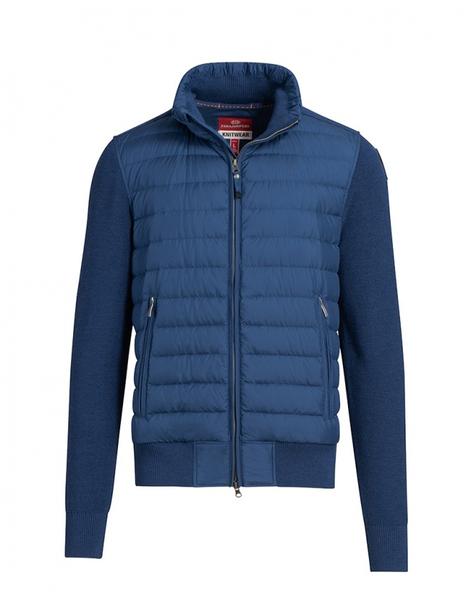 Parajumpers Scow knitted puffer jacket peony PMKNIKN01 SCOW NAVY PEONY 707 mens jackets online shopping