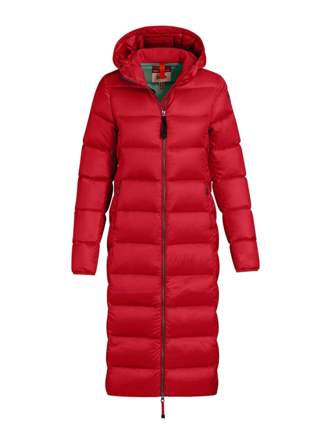 Parajumpers Leah Tomato long down coat for women PMJCKSX33 LEAH TOMATO 722 womens coats online shopping