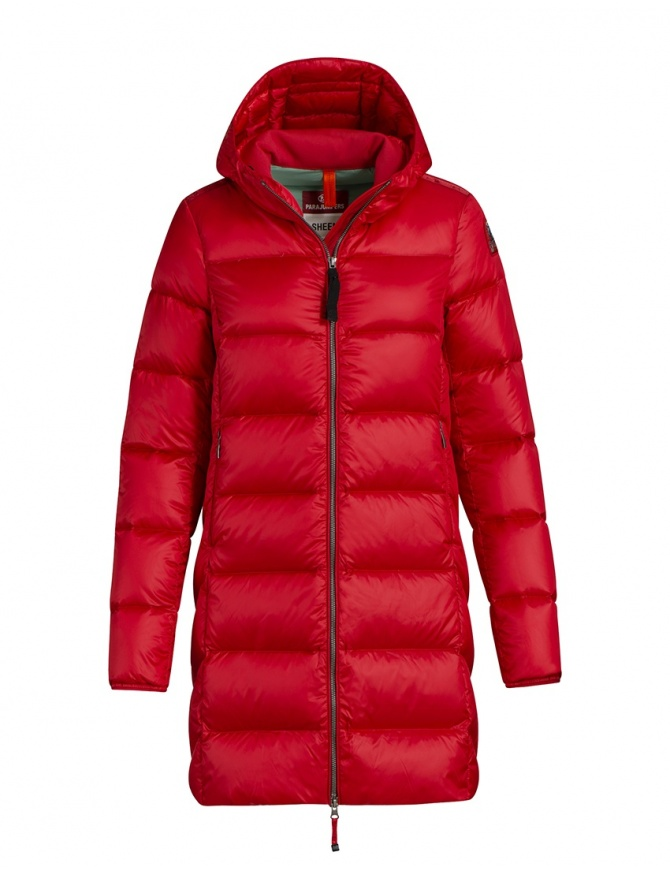 Parajumpers Marion medium down jacket tomato PMJCKSX34 MARION TOMATO 722 womens jackets online shopping