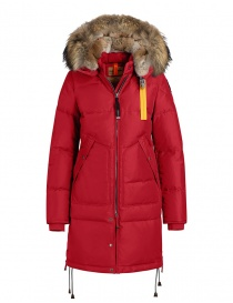 Parajumpers Long Bear jacket scarlet PWJCKMA33 LONG BEAR SCARLET723