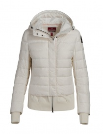 Parajumpers piumino Oceanis con inserti in lana bianco PWKNIKN36 OCEANIS 411 OFF-WHT