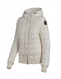 Parajumpers Oceanis down jacket with wool inserts white