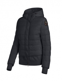 Parajumpers Oceanis black puffer jacket with wool inserts
