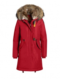 Womens jackets online: Parajumpers Tank hooded parka scarlet