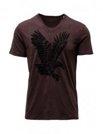 T shirt uomo online: John Varvatos t-shirt aquila bordeaux
