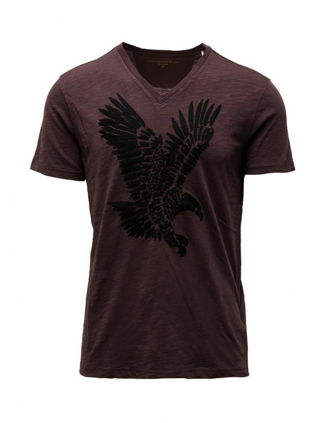 John Varvatos eagle t-shirt burgundy KG4579V3B BNC5B 604 BORDEAUX mens t shirts online shopping