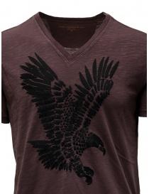 John Varvatos eagle t-shirt burgundy mens t shirts buy online