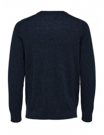 Selected Homme dark sapphire merino wool mixed silk pullover buy online