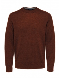 Selected Homme pullover rosso lana merino 16063605 PICANTE MELANGE order online