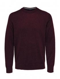 Maglieria uomo online: Selected Homme pullover in lana e seta rosso bordeaux