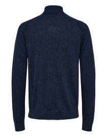 Selected Homme dark sapphire turtleneck merino wool and silk