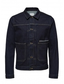 Selected Homme jacket in dark blue denim online