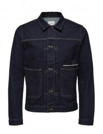 Selected Homme jacket in dark blue denim 16069675 DARK BLUE DENIM