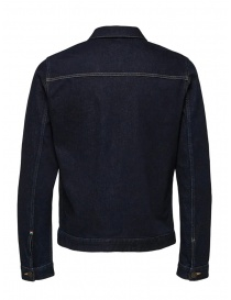 Selected Homme jacket in dark blue denim