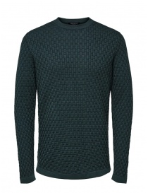 Selected Homme knit pullover in darkest spruce green color online