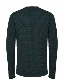 Selected Homme knit pullover in darkest spruce green color