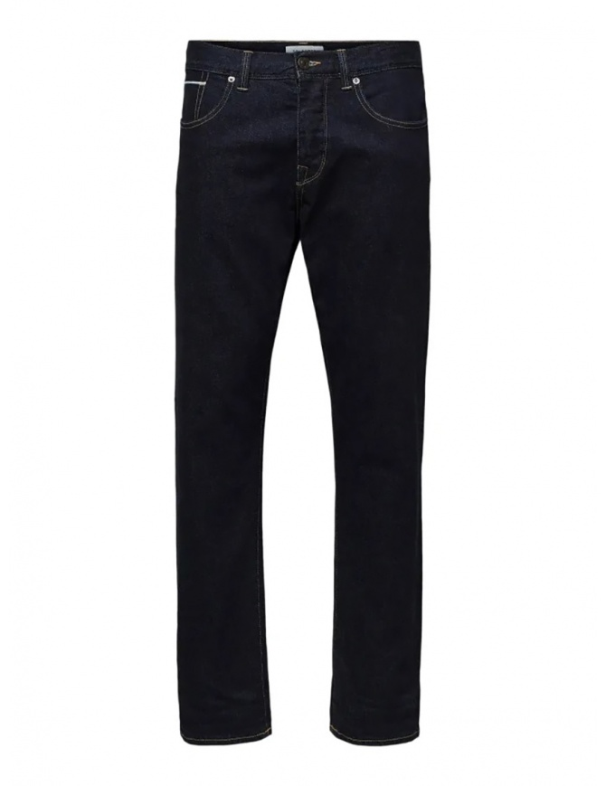 Selected Homme jeans classico blu scuro 16069665 DARK BLUE DENIM jeans uomo online shopping