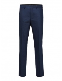 Selected Homme pantaloni da completo blu scuro online