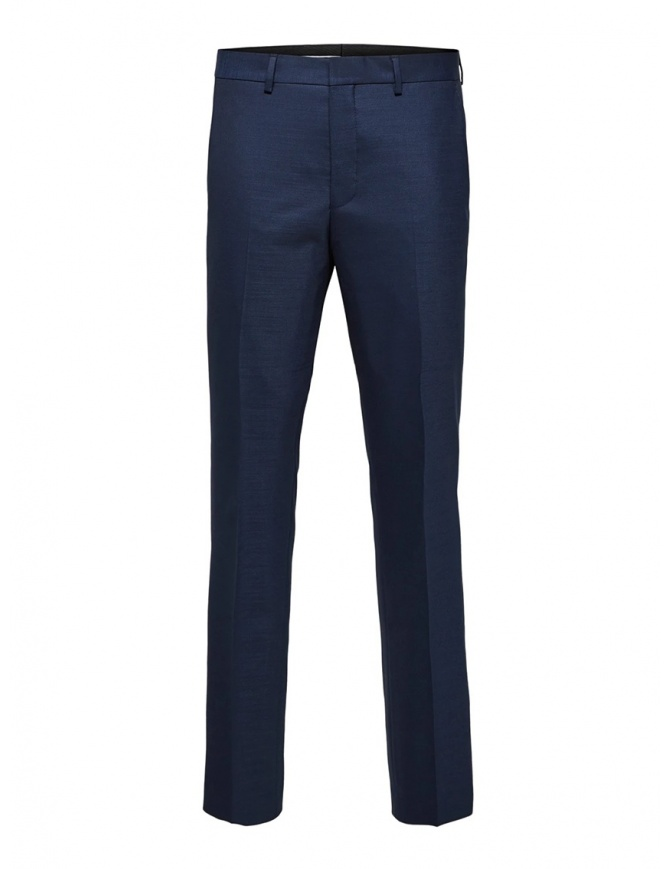 Selected Homme suit trousers dark blue 16071125 DARK BLUE mens trousers online shopping