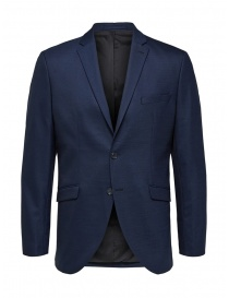 Mens suit jackets online: Selected Homme dark blye blazer with two buttons