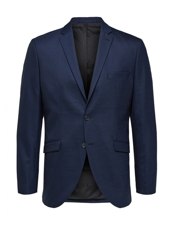 Selected Homme blazer blu scuro a due bottoni 16071124 DARK BLUE giacche uomo online shopping