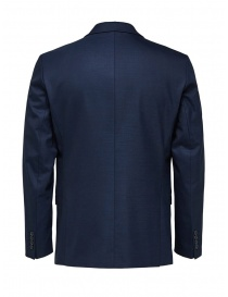 Selected Homme blazer blu scuro a due bottoni