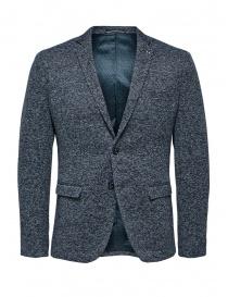 Selected Homme blazer monopetto blu melange online