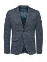 Selected Homme melange blue single-breasted blazer buy online 16068351 SAND