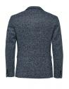 Selected Homme melange blue single-breasted blazer shop online mens suit jackets