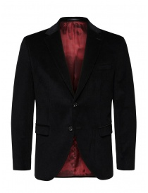 Mens suit jackets online: Selected Homme jacket in black corduroy