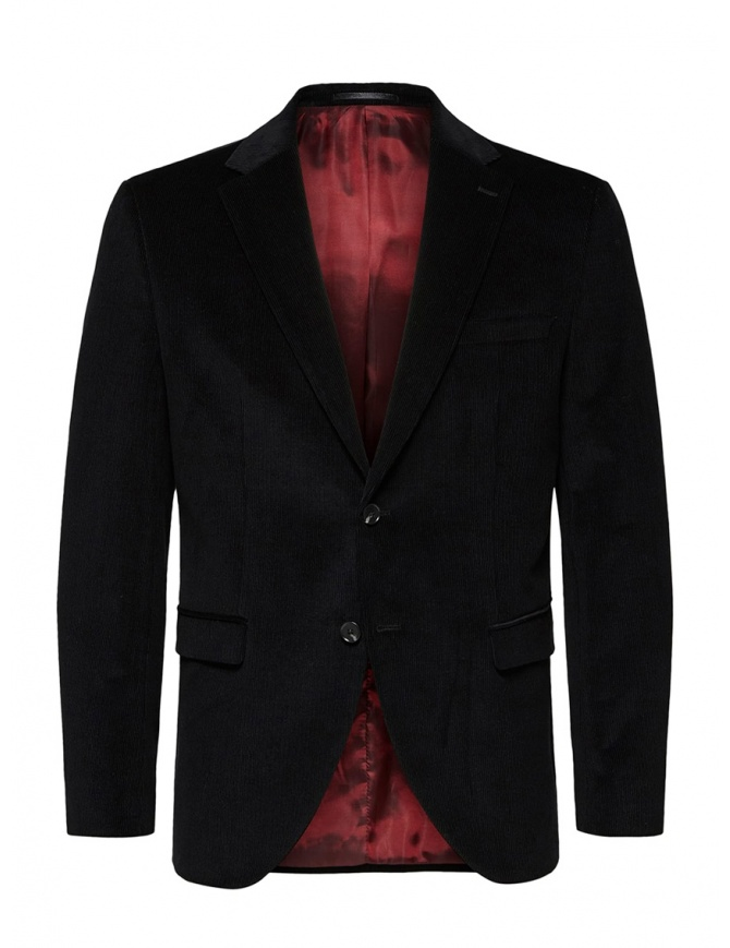Selected Homme giacca in velluto a coste nera 16069366 BLACK giacche uomo online shopping