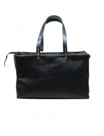 M.A+ small Boston bag in black leather online