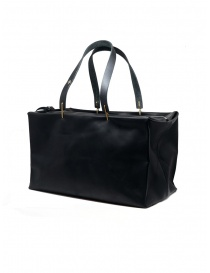 M.A+ small Boston bag in black leather
