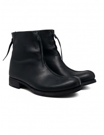 Mens shoes online: M.A+ black double zippered boot