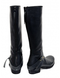 M.A+ high boots in black leather with buckle and zipper price
