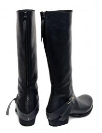 M.A+ stivali alti in pelle nera con fibbia e cerniera prezzo