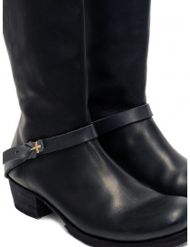 M.A+ high boots in black leather with buckle and zipper womens shoes buy online