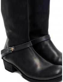 M.A+ stivali alti in pelle nera con fibbia e cerniera calzature donna acquista online