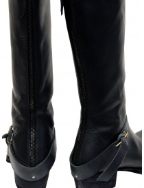 M.A+ high boots in black leather with buckle and zipper womens shoes price