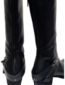 M.A+ stivali alti in pelle nera con fibbia e cerniera calzature donna prezzo
