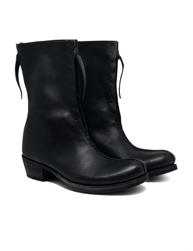M.A+ double zip boots with camperos heel SW6D3ZZ VA 1.5 BLACK womens shoes online shopping