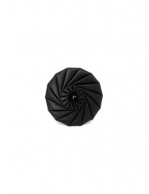 M.A+ black leather wheel-shaped purse online