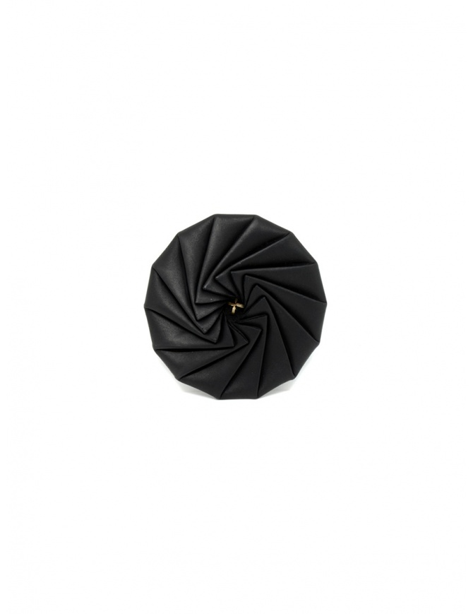 M.A+ black leather wheel-shaped purse A-WPOLY14 VA 1.0 BLACK wallets online shopping