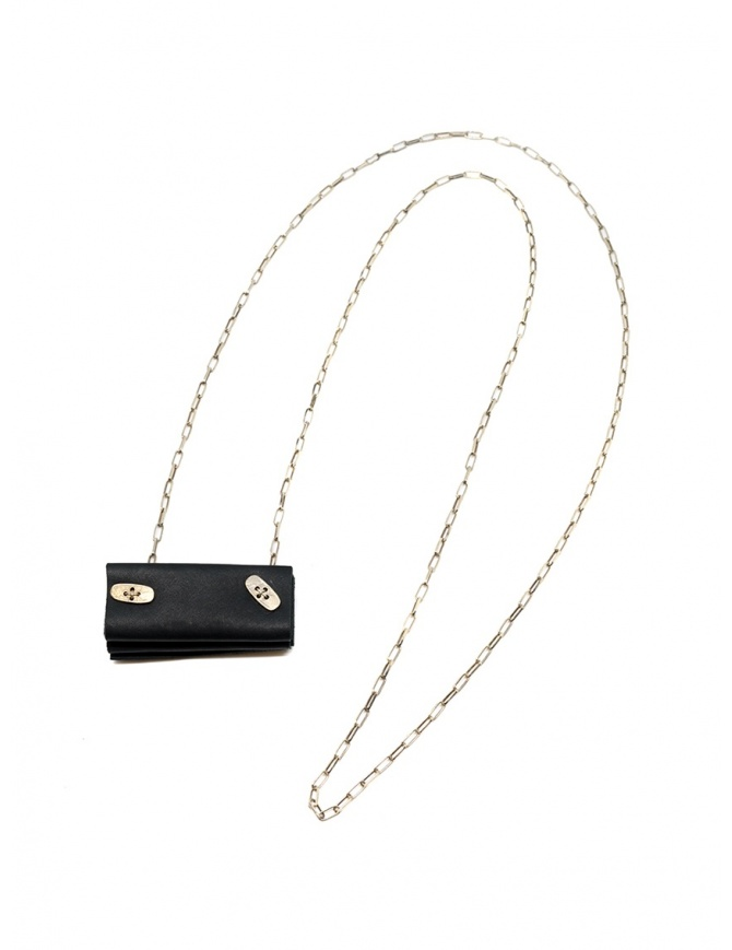 M.A+ silver necklace with mini accordion bag A-BG4 VA 1.0 BLACK