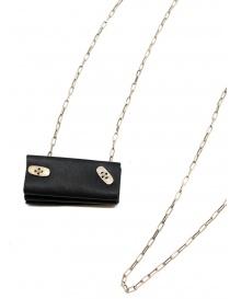 M.A+ collana in argento con mini borsa a fisarmonica