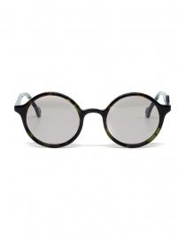 Occhiali online: Occhiali da sole Kapital in acetato tartaruga con lenti grigie